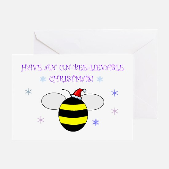 Un-bee-lievable Christmas! Greeting Card