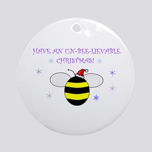 Un-bee-lievable Christmas! Ornament (Round)