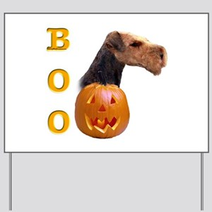 Airedale Boo Yard Sign