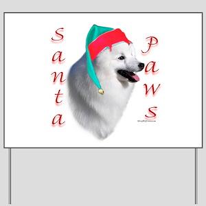 Eskimo Dog Paws Yard Sign