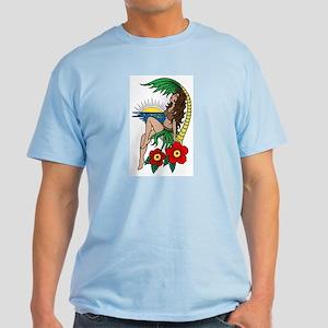 Hawaii Hula Girl Tattoo Light T-Shirt