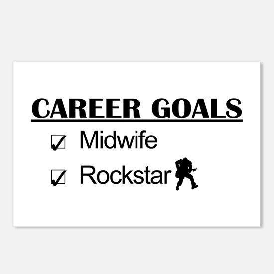 Midwife Career Goals - Rockstar Postcards (Package