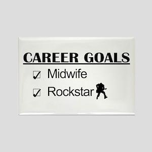 Midwife Career Goals - Rockstar Rectangle Magnet