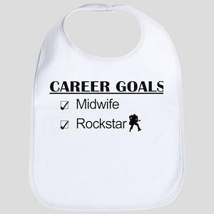 Midwife Career Goals - Rockstar Bib