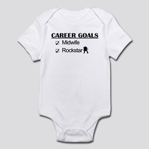 Midwife Career Goals - Rockstar Infant Bodysuit