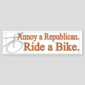 Annoy a Republican. Ride A Bi Bumper Sticker