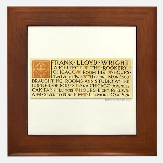 Wright Business Card Framed Tile