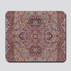 Tabriz Persian Rug with Animals Mousepad