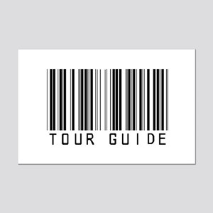 Tour Guide Bar Code Mini Poster Print