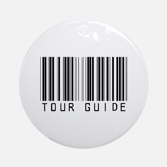 Tour Guide Bar Code Ornament (Round)