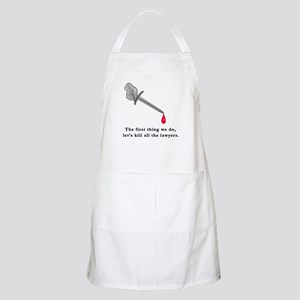 Shakespeare Lets Kill all the Lawyers BBQ Apron