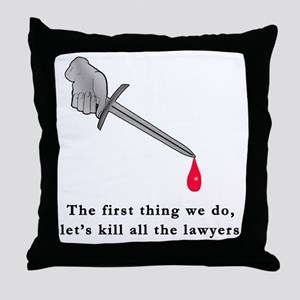 Shakespeare Lets Kill all the Lawyers Throw Pillow