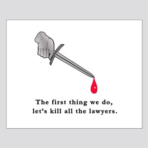 Shakespeare Lets Kill all the Lawyers Small Poster