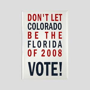 Colorado/Florida - Vote Rectangle Magnet