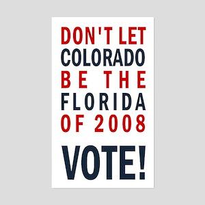 Colorado/Florida - Vote Rectangle Sticker