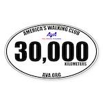 30,000 Kilometers Walked Sticker