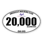 20,000 Kilometers Walked Sticker
