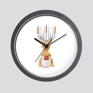 Hanukkah Rudolph ~  Wall Clock