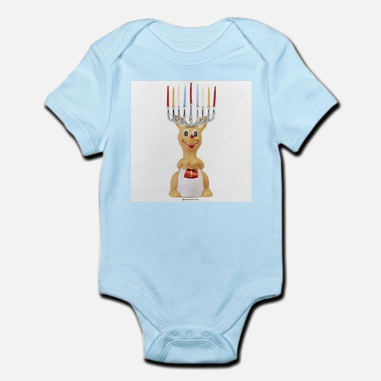 Hanukkah Rudolph ~  Infant Creeper