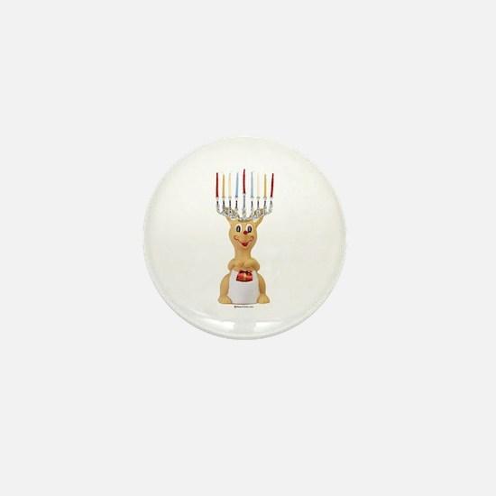 Hanukkah Rudolph ~ Mini Button