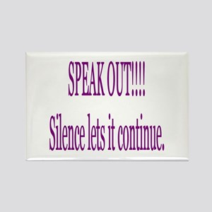 """Speak Out"" Rectangle Magnet"