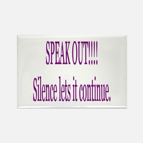 """Speak Out"" Rectangle Magnet"