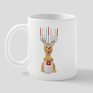 Hanukkah Rudolph ~  Mug