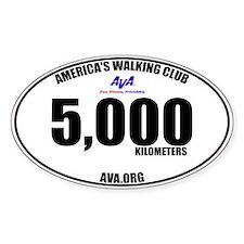 5,000 Kilometers Walked Sticker