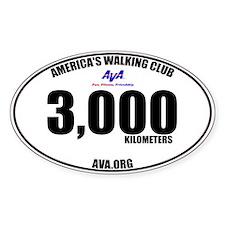 3,000 Kilometers Walked Sticker