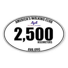 2,500 Kilometers Walked Sticker
