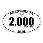 2,000 Kilometers Walked Sticker