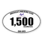 1,500 Kilometers Walked Sticker