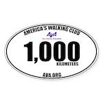 1,000 Kilometers Walked Sticker
