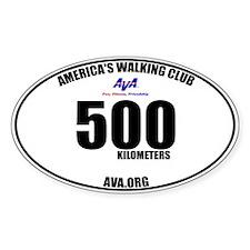 500 Kilometers Walked Sticker