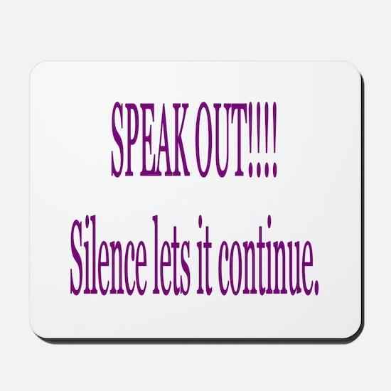 """Speak Out"" Mousepad"