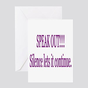 """""""Speak Out"""" Greeting Card"""