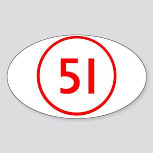Emergency 51 Oval Sticker