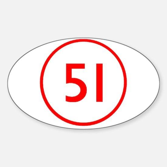 Emergency 51 Oval Stickers
