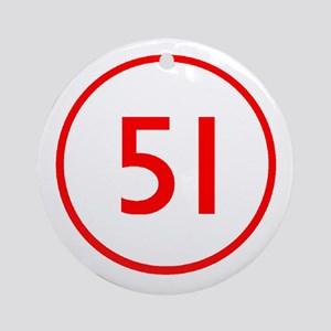 Emergency 51 Ornament (Round)