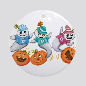 Halloween Ghosts Ornament (Round)