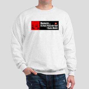 """Karl Marx: Proud Of Obama"" Sweatshirt"