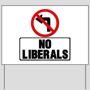 No Left Turn Yard Sign
