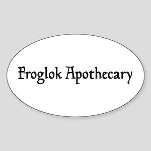 Froglok Apothecary Oval Sticker