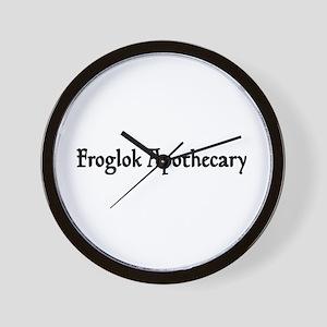 Froglok Apothecary Wall Clock