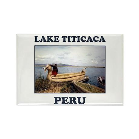 Lake Titicaca Rectangle Magnet