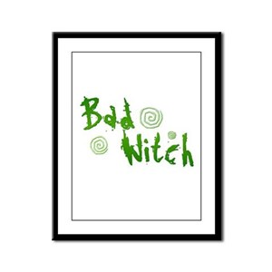 Bad Witch Framed Panel Print