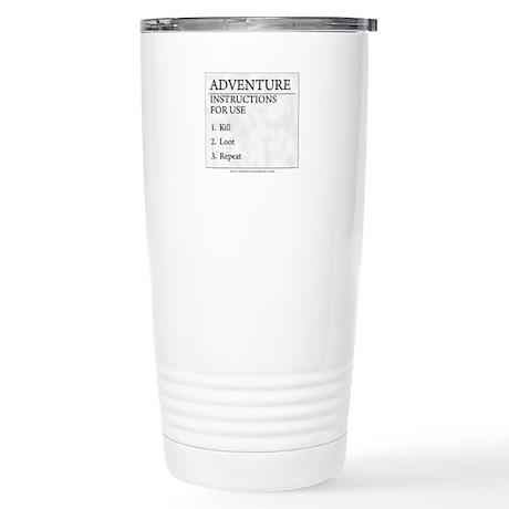 Adventure Instructions Stainless Steel Travel Mug
