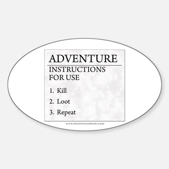 Adventure Instructions Oval Decal