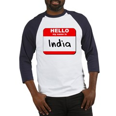 Hello my name is India Baseball Jersey