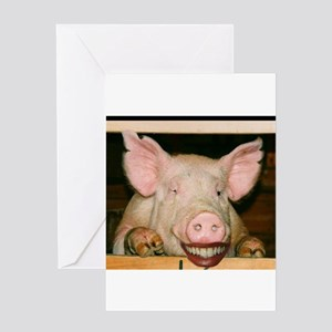 Lipstick on a Pig 2 Greeting Card